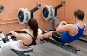 Rameur et les muscles